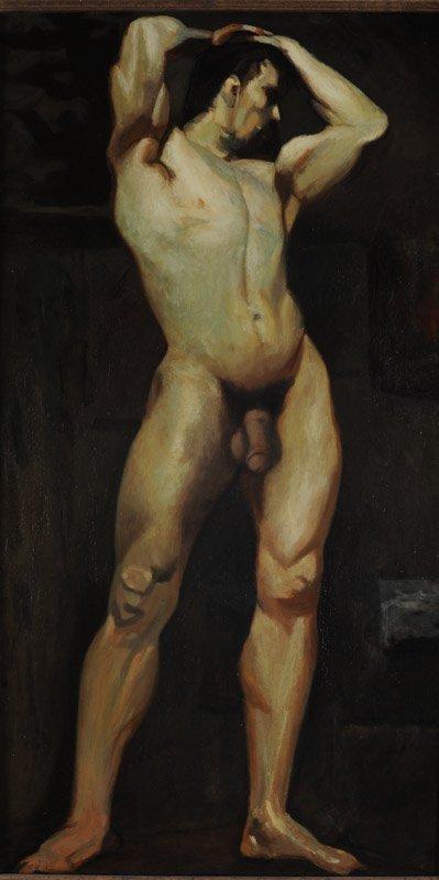 Oil on Masonite Male Nude - 3