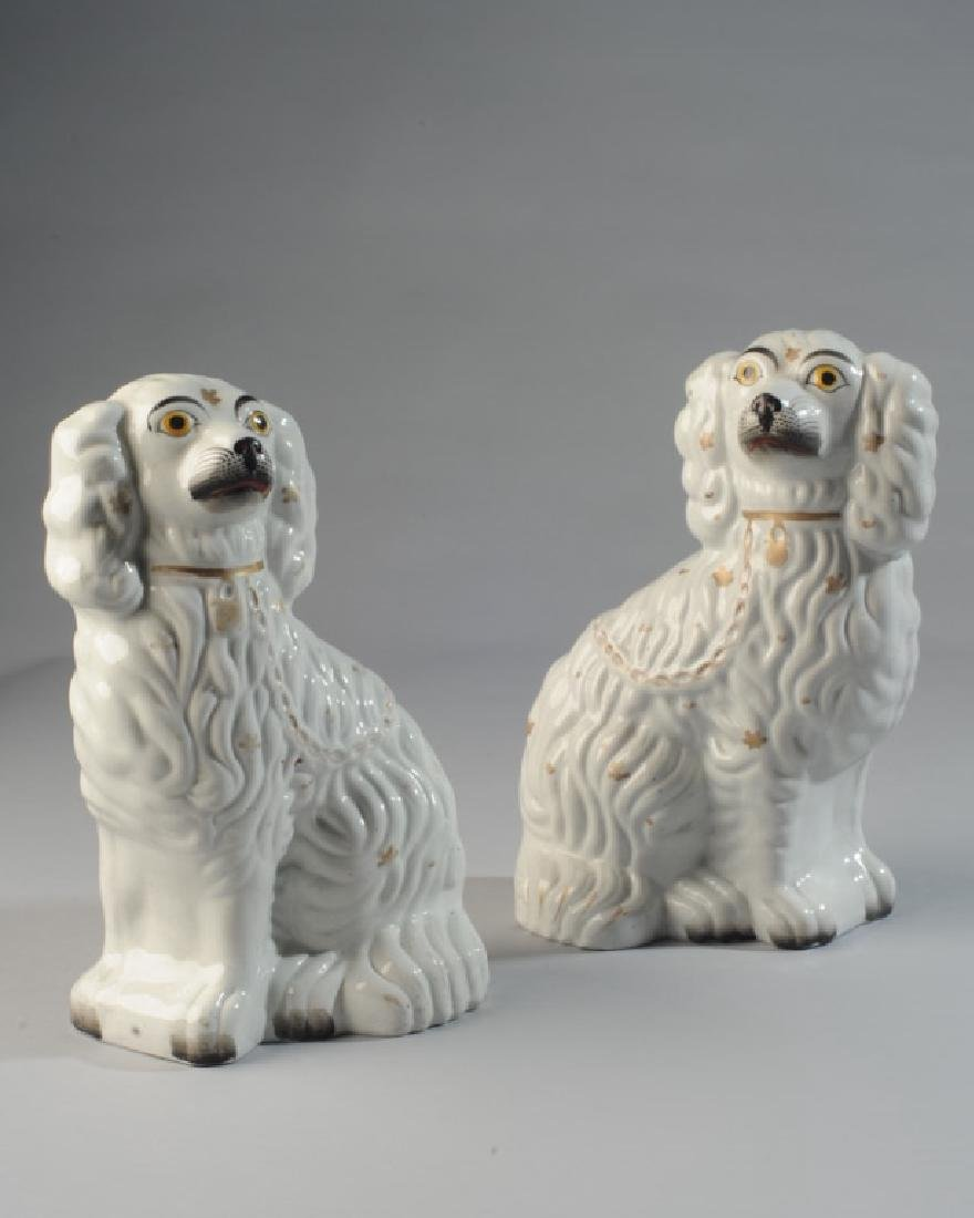 Pair of 19th C. Staffordshire Spaniels