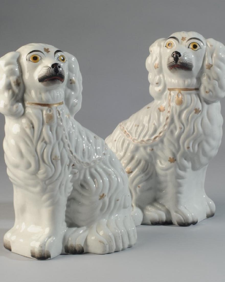 Pair of 19th C. Staffordshire Spaniels - 2