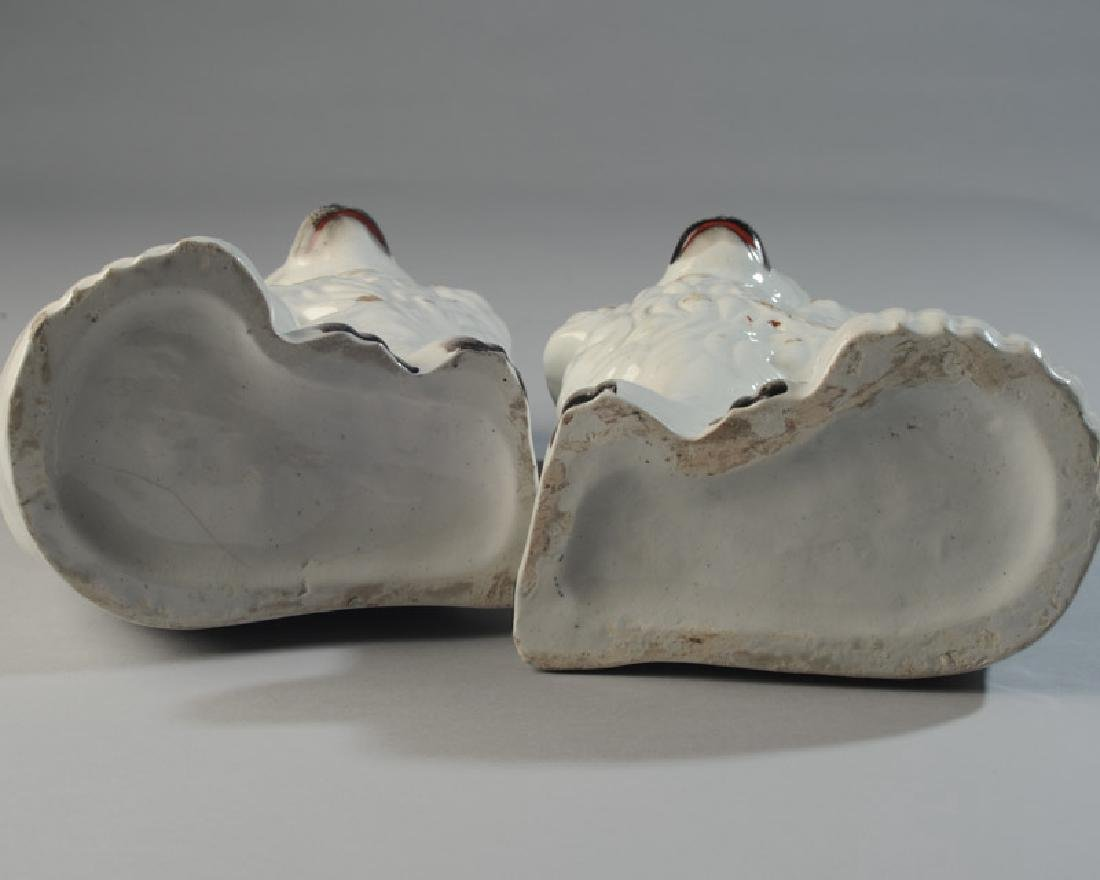 Pair of 19th C. Staffordshire Spaniels - 7