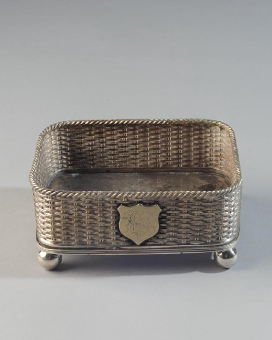 Mappin Bros. Silverplate Footed Container