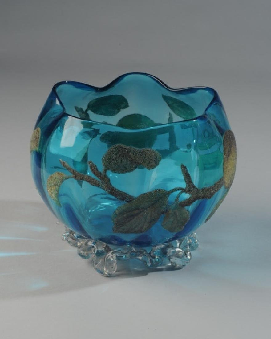 Early Blown Glass Rose Bowl
