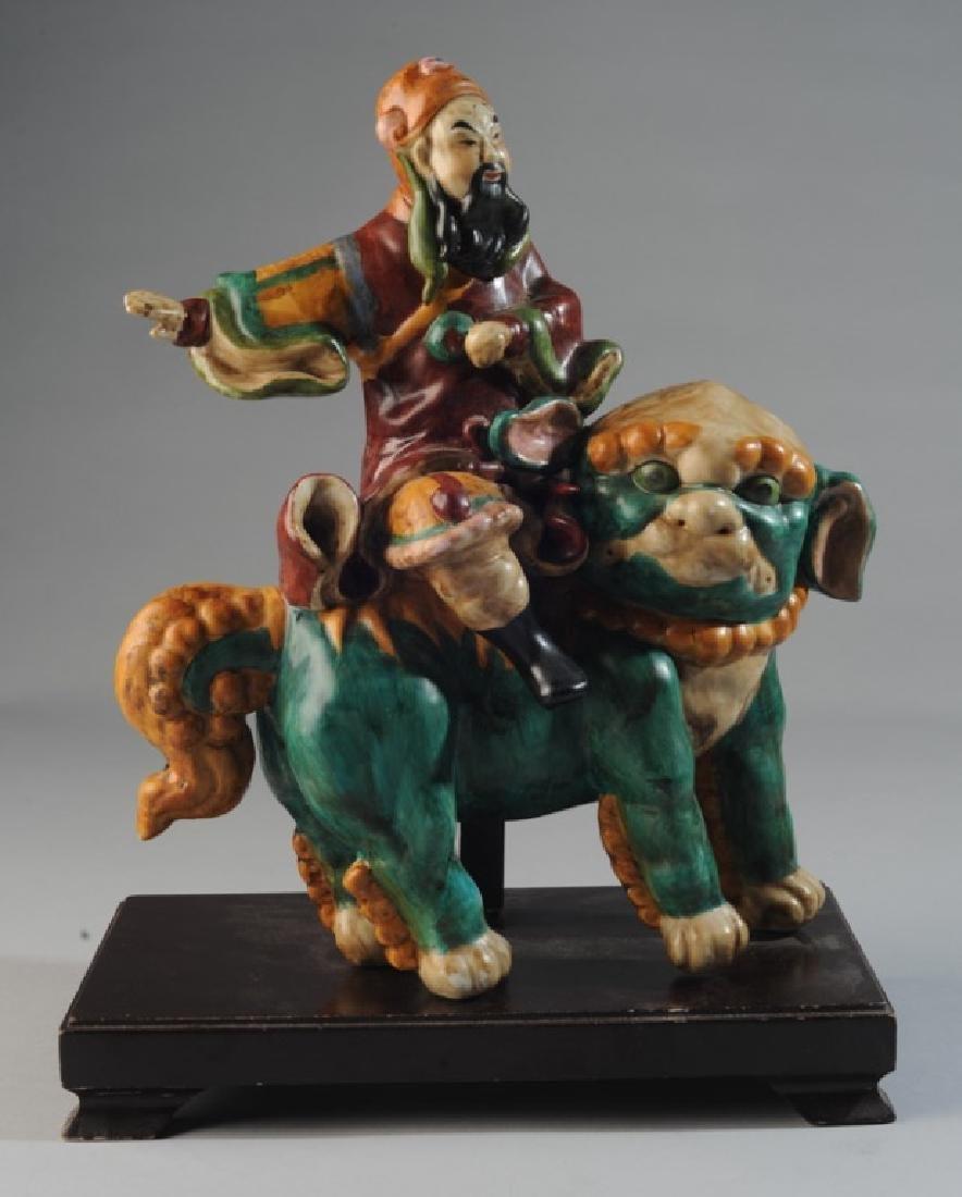 Glazed Pottery Chinese Figure