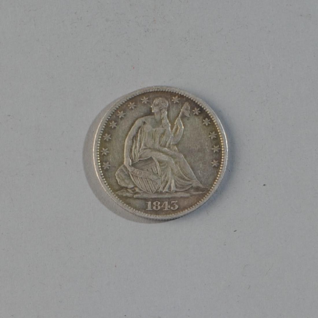 1843 Liberty Seated Half Dollar