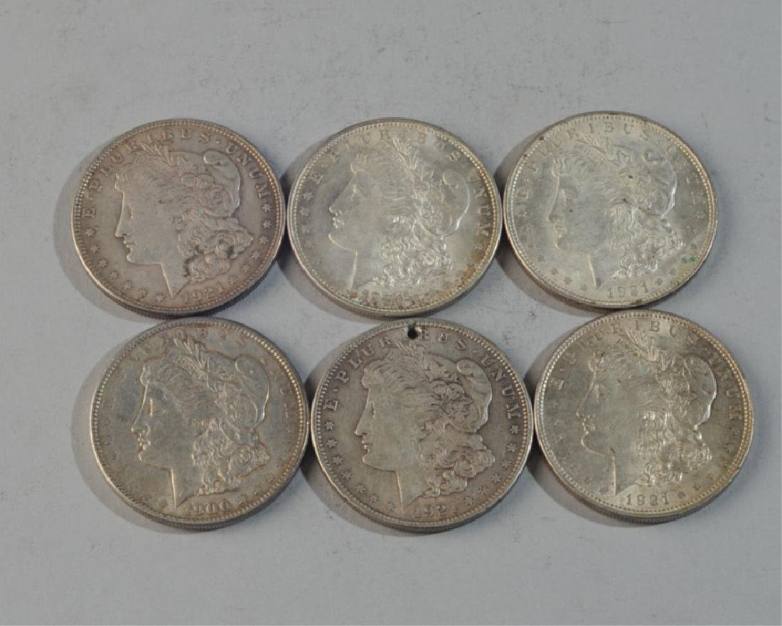 6 Morgan Silver Dollars