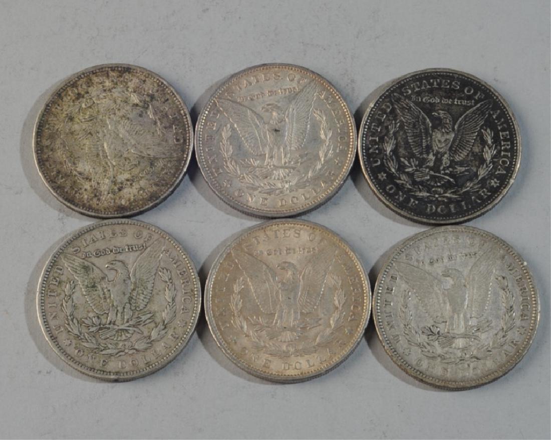 6 Morgan Silver Dollars - 2
