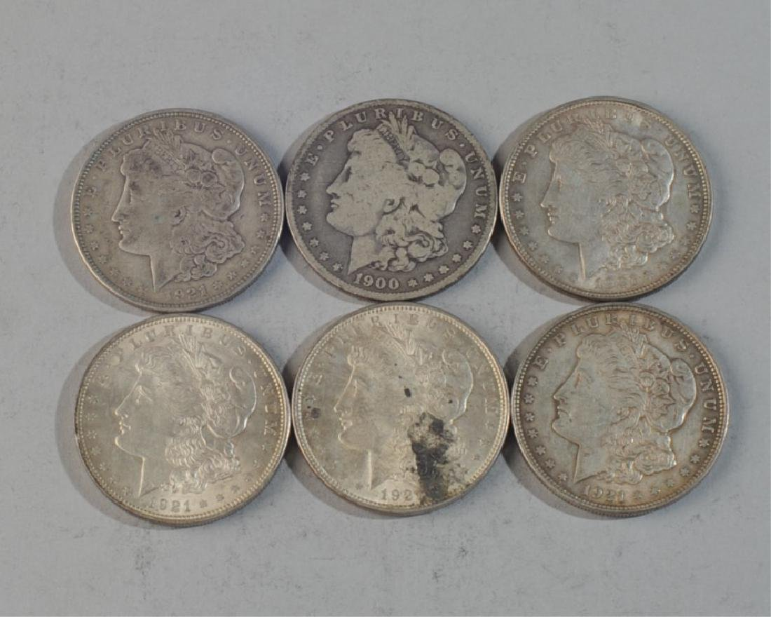 6 Morgan Silver Dollars