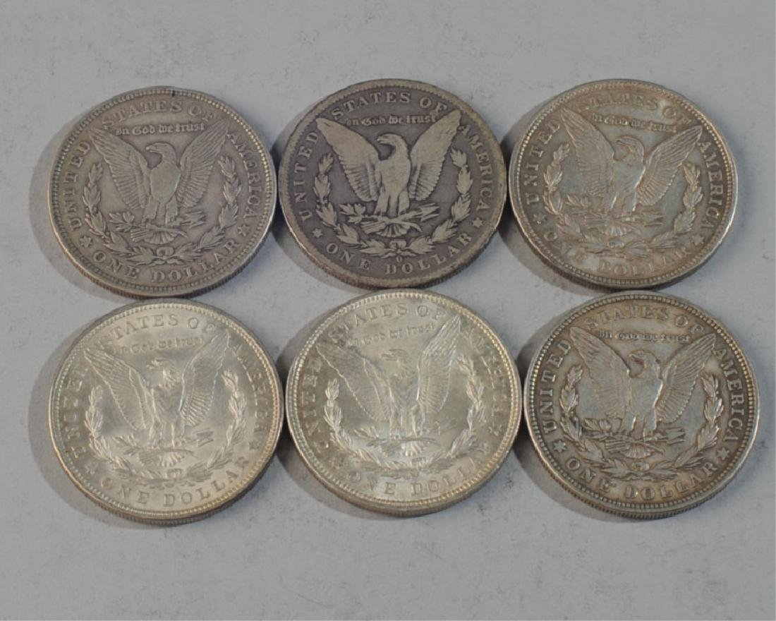 6 Morgan Silver Dollars - 2