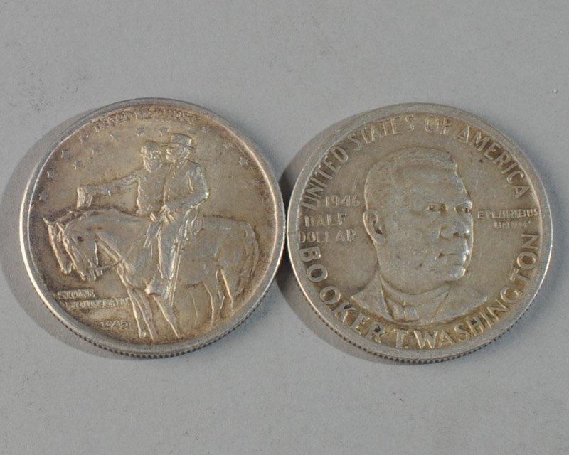 Stone Mountain & Booker Washington Half Dollars