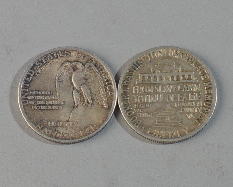 Stone Mountain & Booker Washington Half Dollars - 2