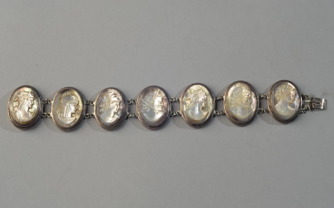Unusual Mother of Pearl Cameo Bracelet