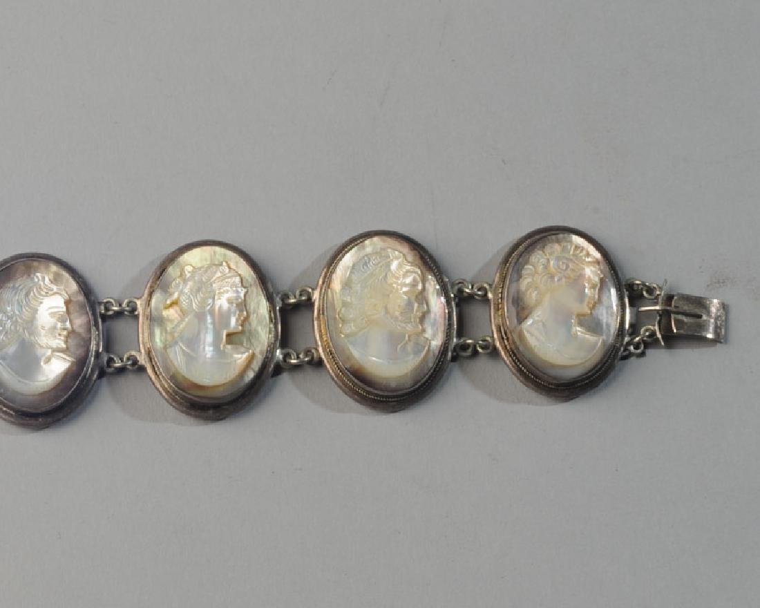 Unusual Mother of Pearl Cameo Bracelet - 2