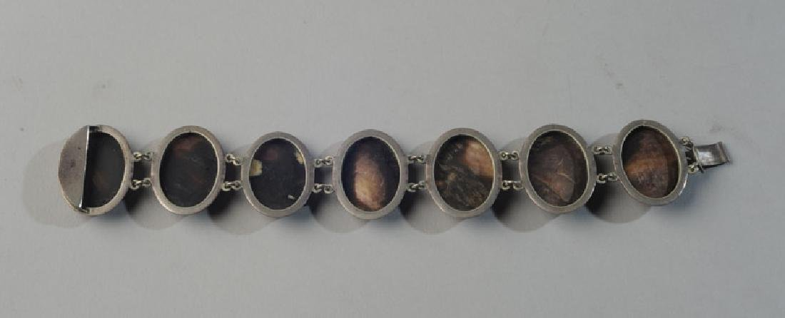 Unusual Mother of Pearl Cameo Bracelet - 4