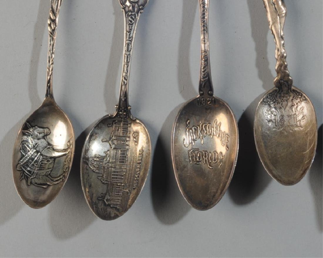 6 Sterling Silver Souvenir Spoons - 4