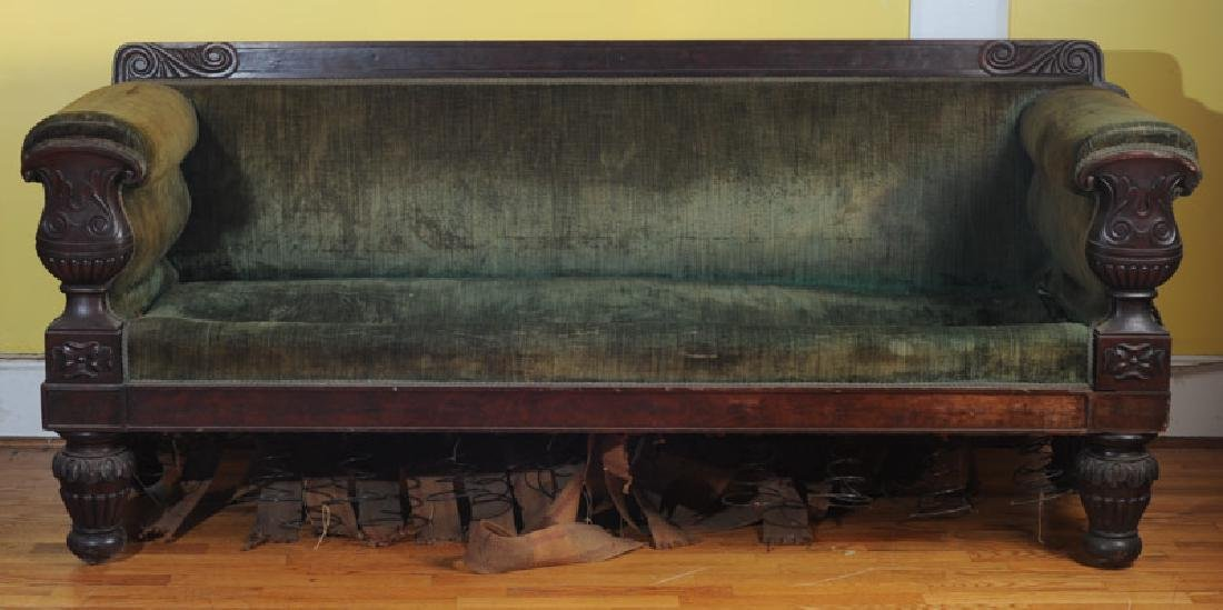19th C. Empire Sofa