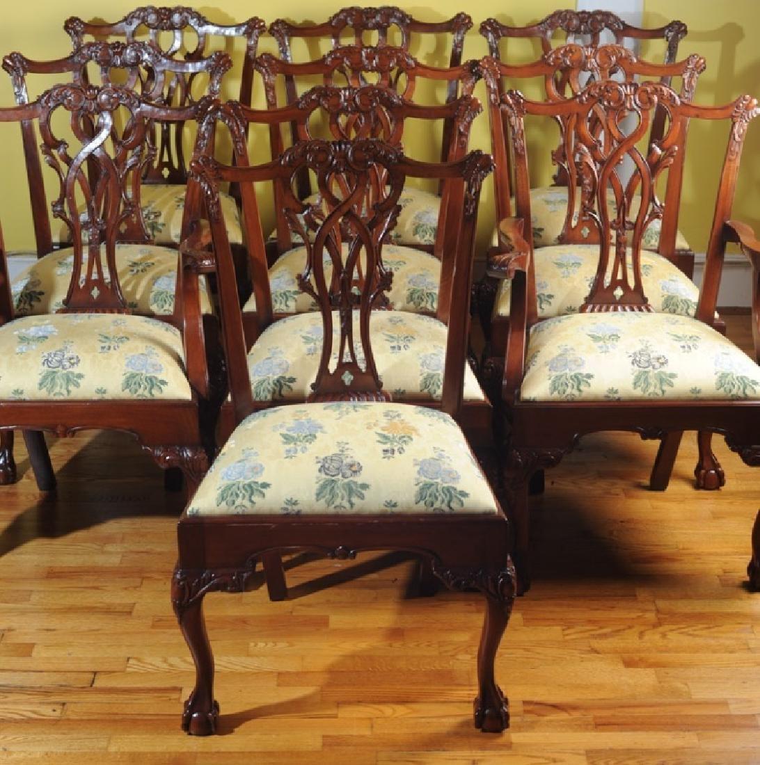 Set of 10 Georgian Style Mahogany Dining Chairs