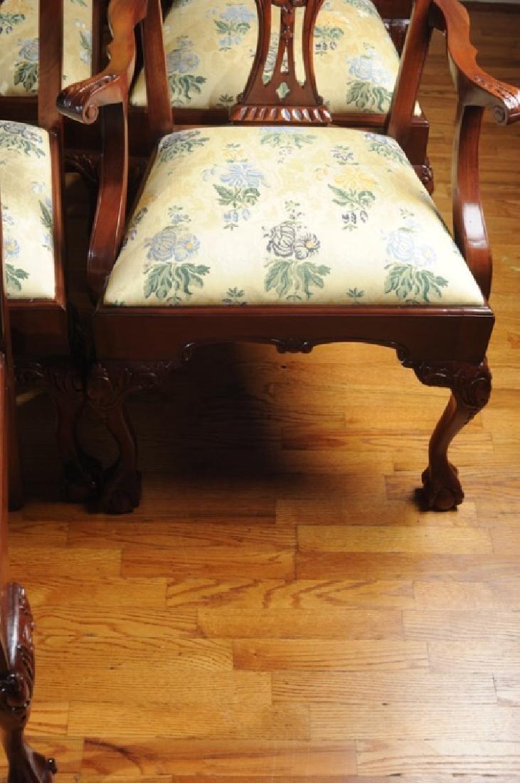 Set of 10 Georgian Style Mahogany Dining Chairs - 3