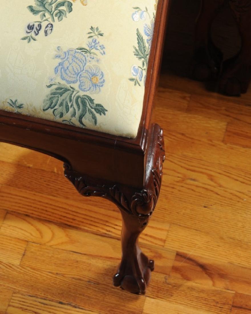 Set of 10 Georgian Style Mahogany Dining Chairs - 4