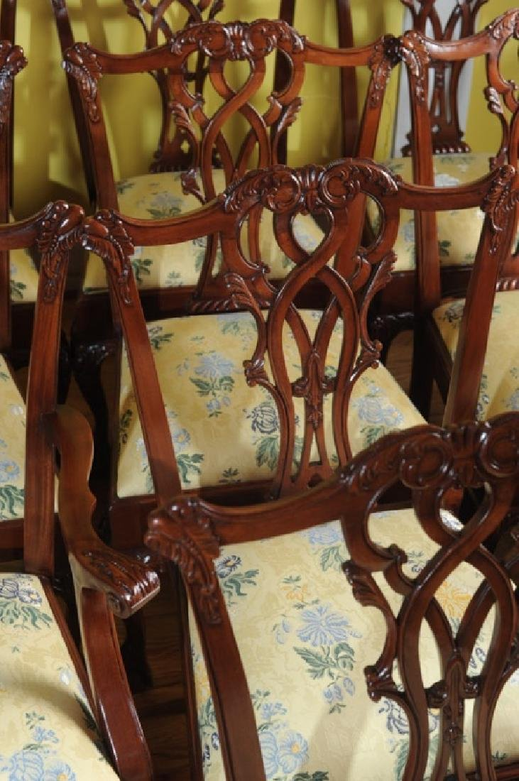 Set of 10 Georgian Style Mahogany Dining Chairs - 5