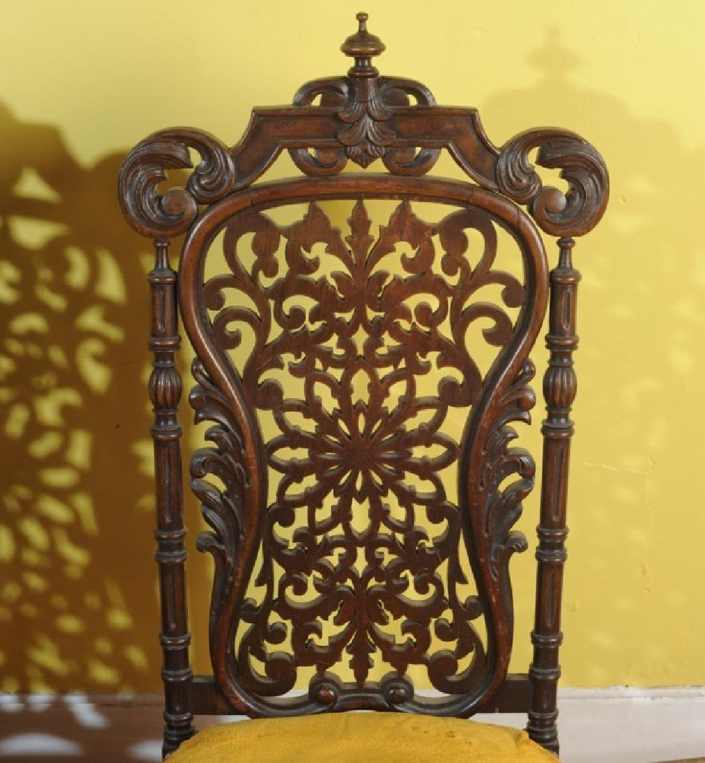 Pair of Jacobean Style Side Chairs - 2