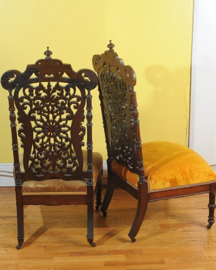 Pair of Jacobean Style Side Chairs - 3