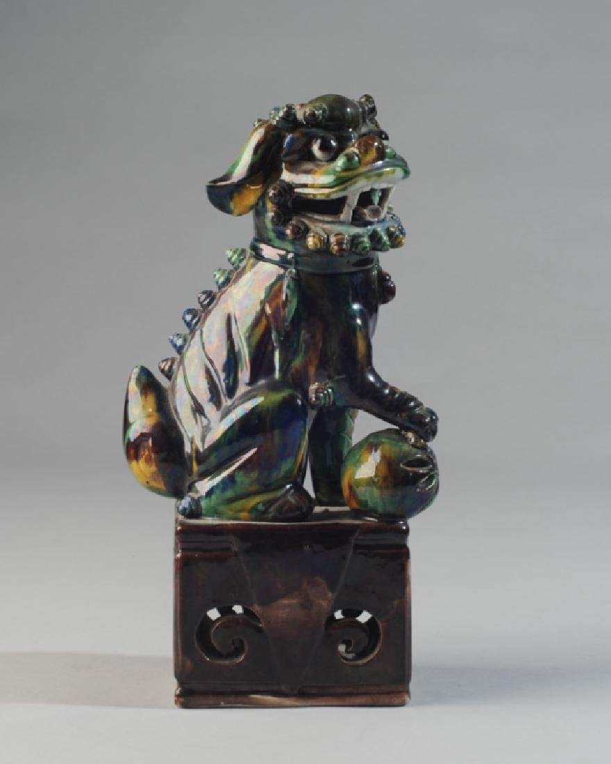Asian Glazed Pottery Foo Lion