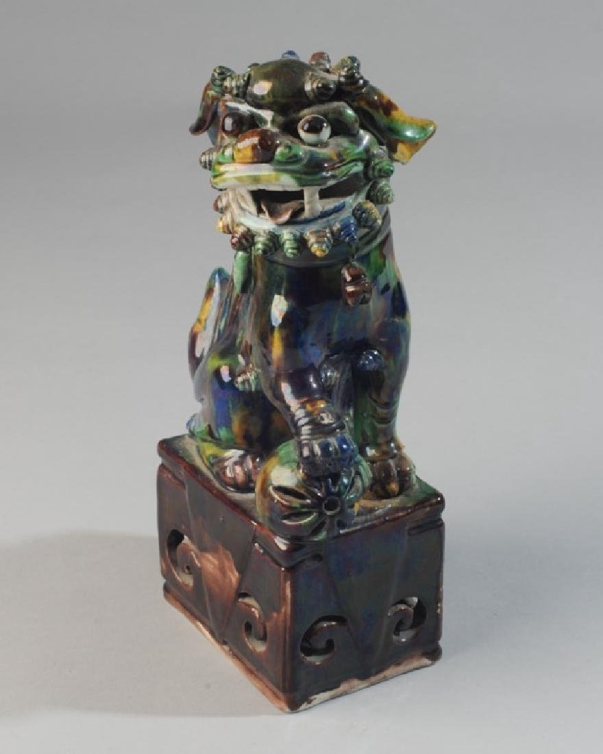 Asian Glazed Pottery Foo Lion - 2