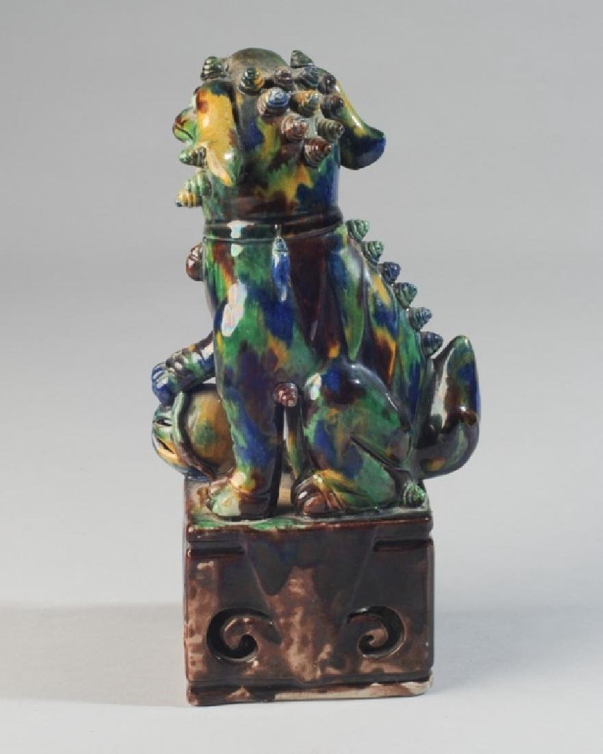 Asian Glazed Pottery Foo Lion - 3