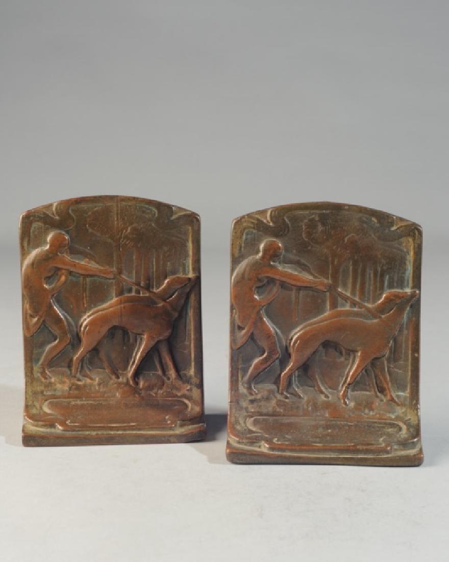 Pair of Bronze Art Nouveau Bookends