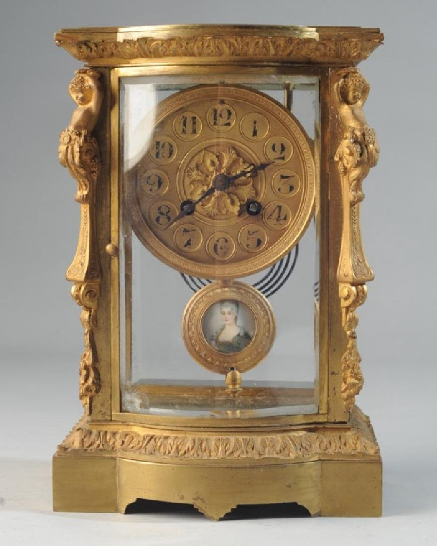 19th C. French H & H Mantel Clock