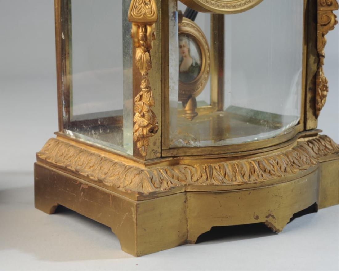 19th C. French H & H Mantel Clock - 4