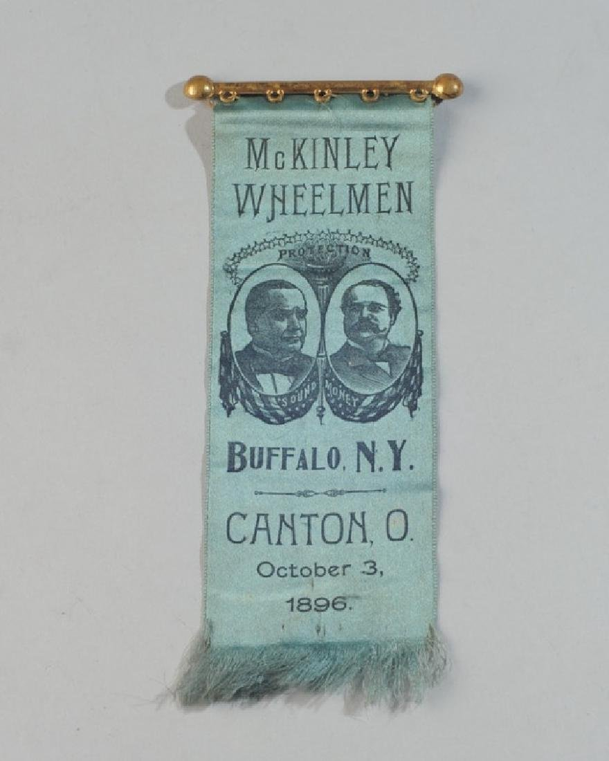 Mckinley Wheelmen 1896 Political Ribbon