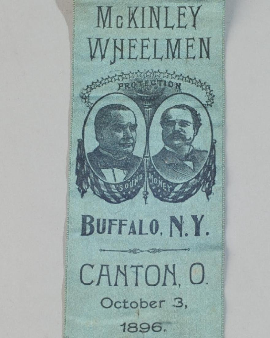 Mckinley Wheelmen 1896 Political Ribbon - 2