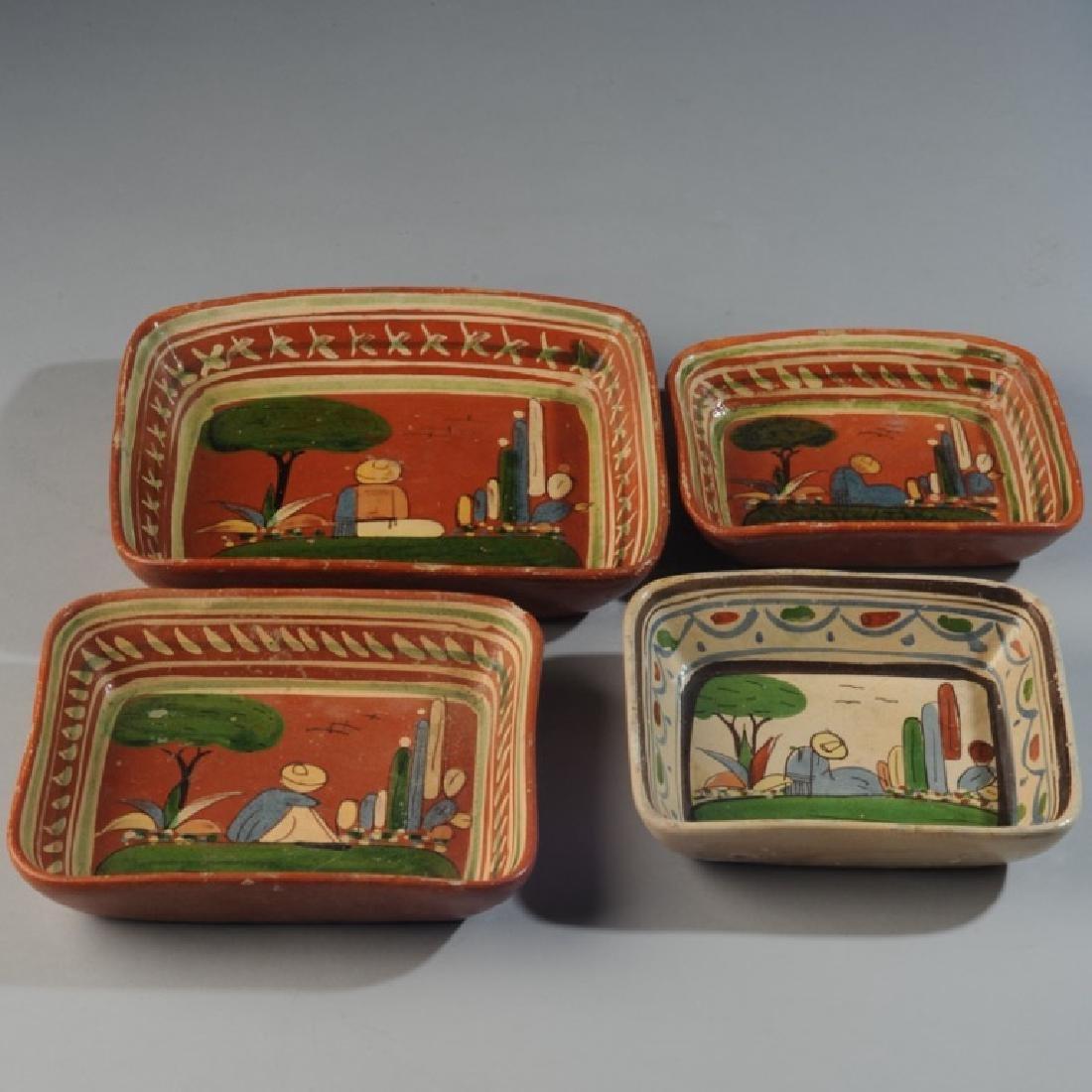 Circa 1940s Vintage Mexican Tlaquepaque Tourist Pottery