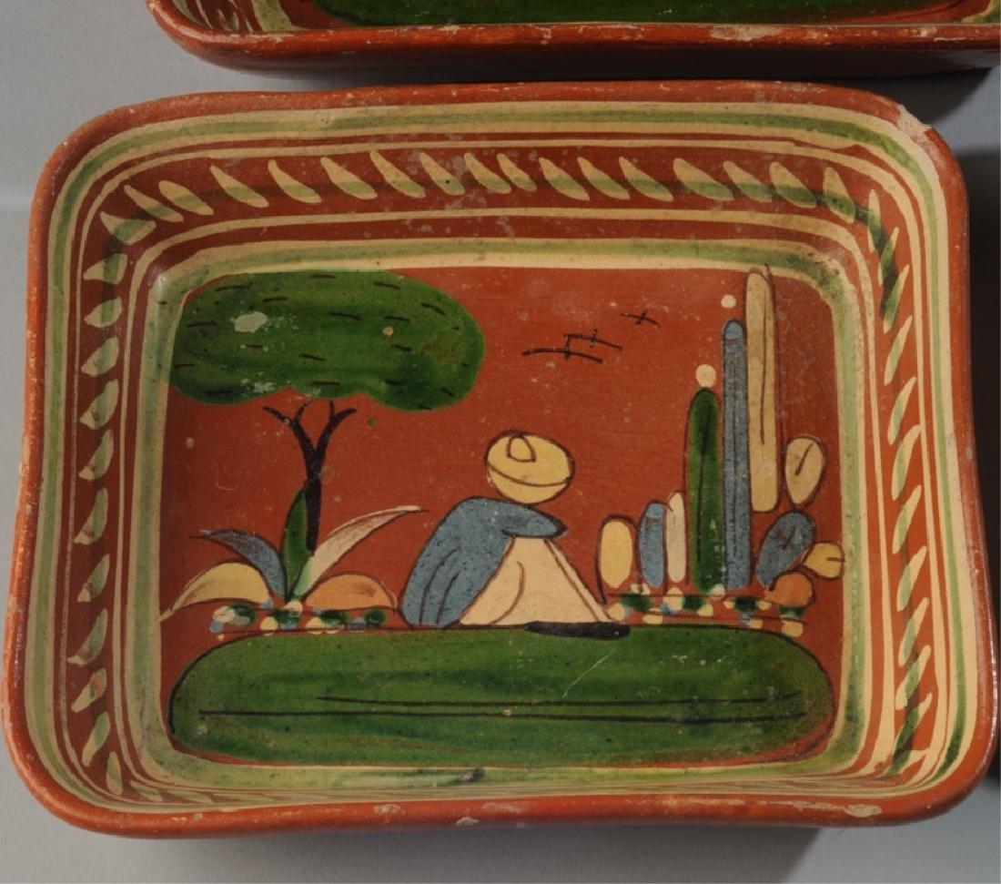 Circa 1940s Vintage Mexican Tlaquepaque Tourist Pottery - 3