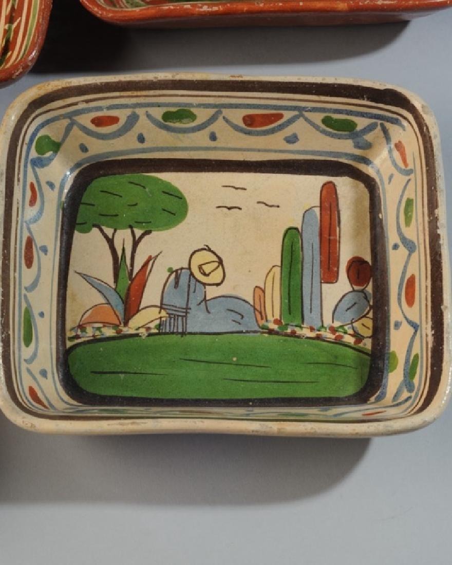 Circa 1940s Vintage Mexican Tlaquepaque Tourist Pottery - 4