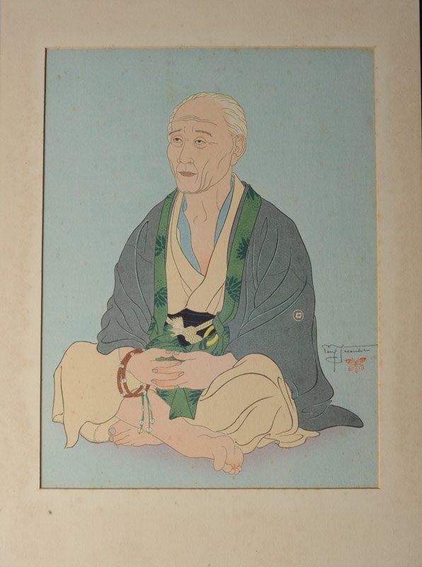 Paul Jacoulet (1902-1960) Woodblock Print - 3