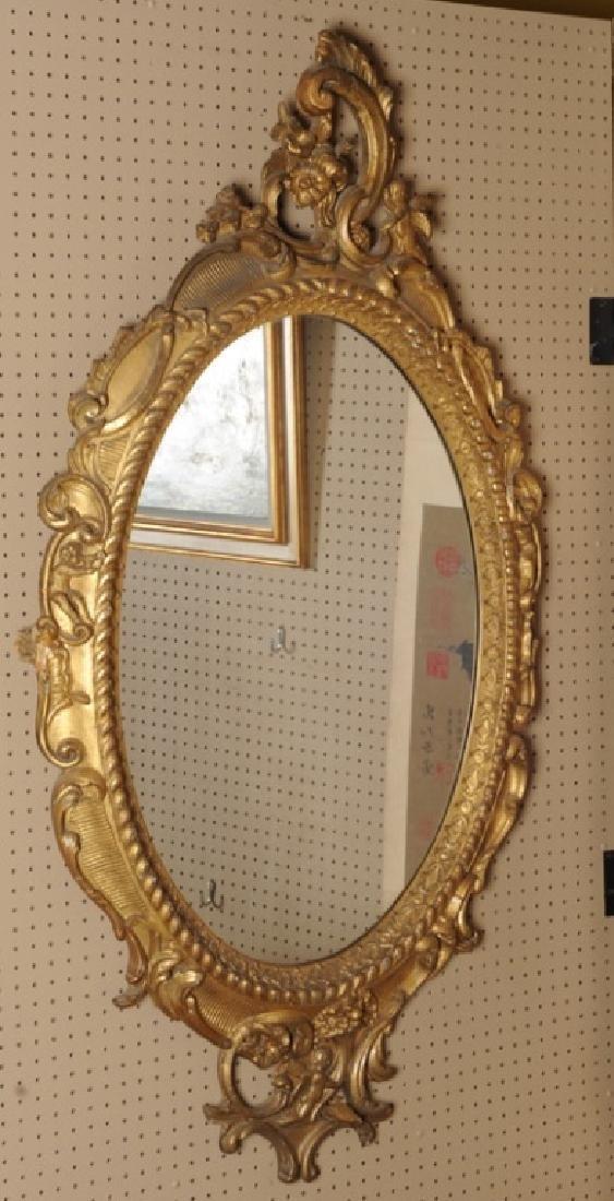Elaborate 19th C. Rococo Style Gilt Mirror