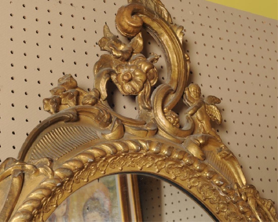 Elaborate 19th C. Rococo Style Gilt Mirror - 4