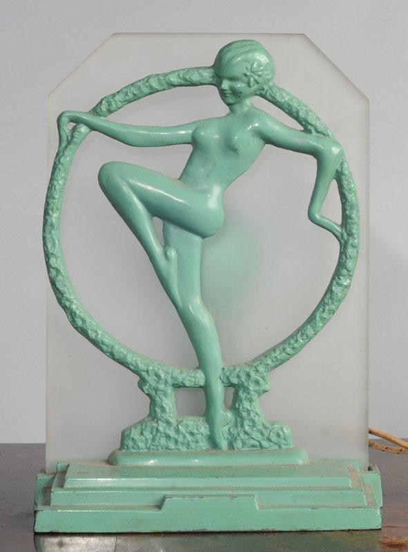 Frankart Art Deco Nude Lamp