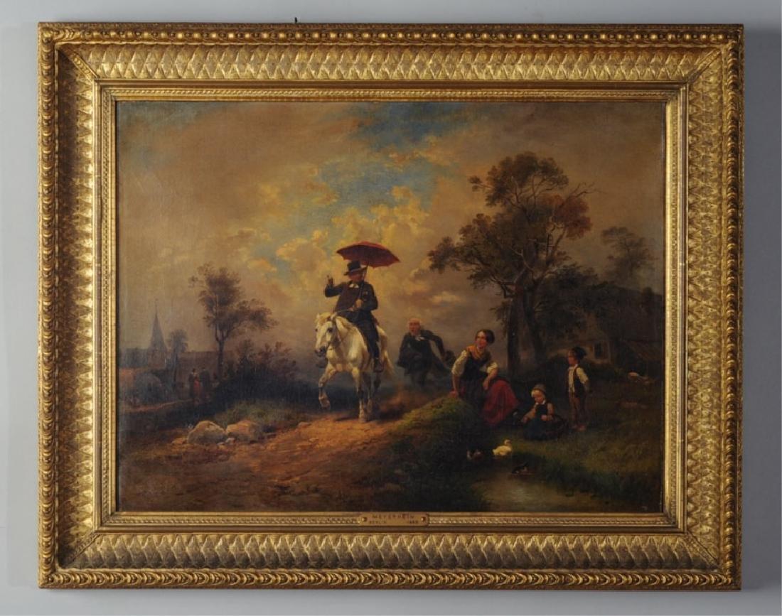 Wilhelm Meyerheim (1815-1882) Oil on Canvas