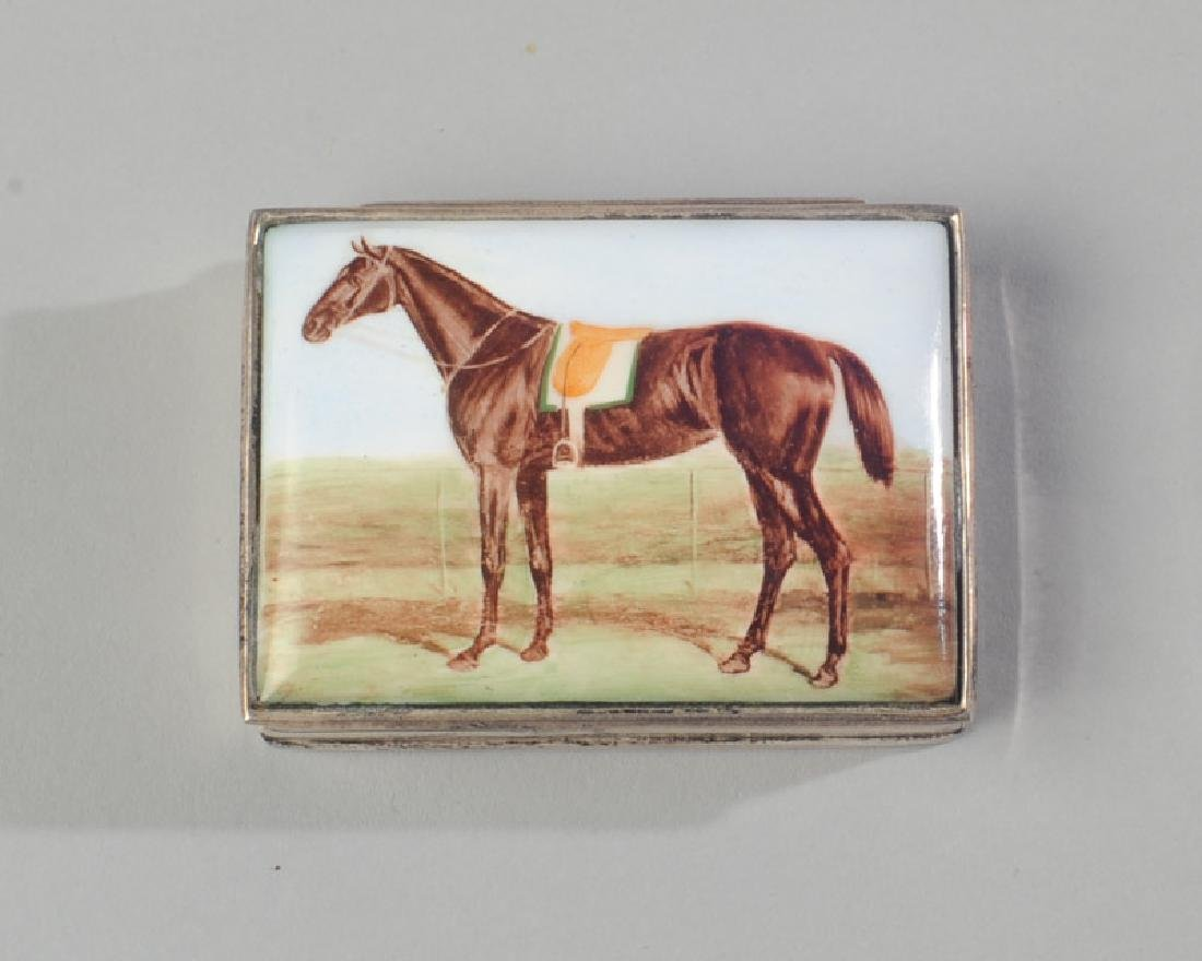 English Sterling and Enamel Horse Box