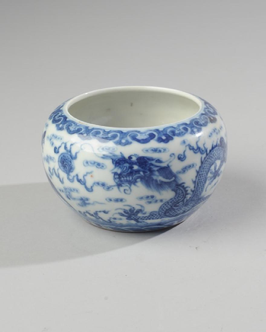 Chinese Qing / Republic Blue & White Dragon Bowl