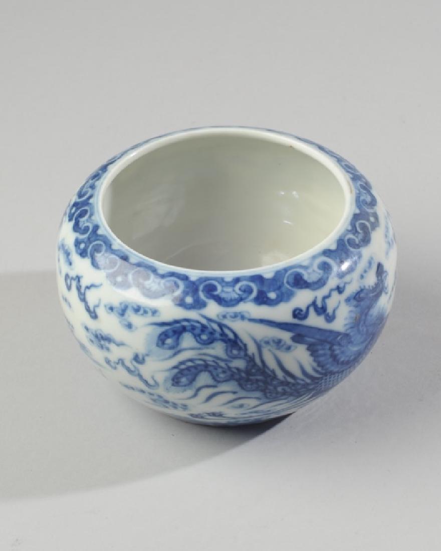 Chinese Qing / Republic Blue & White Dragon Bowl - 3
