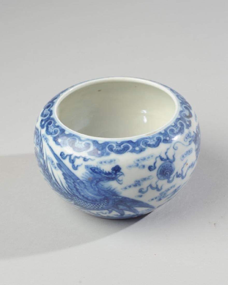 Chinese Qing / Republic Blue & White Dragon Bowl - 6