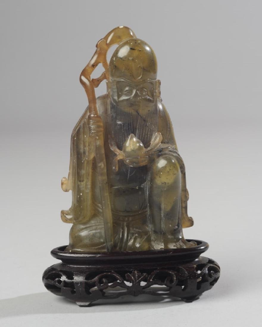 Chinese Carved Jade / Hard Stone Figure