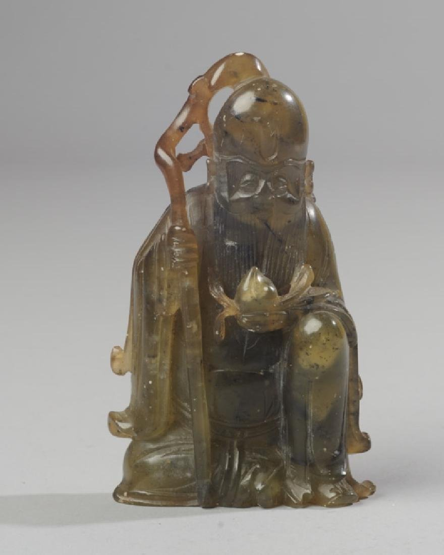 Chinese Carved Jade / Hard Stone Figure - 2