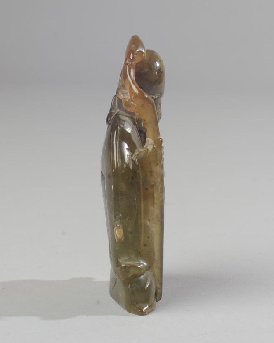 Chinese Carved Jade / Hard Stone Figure - 3
