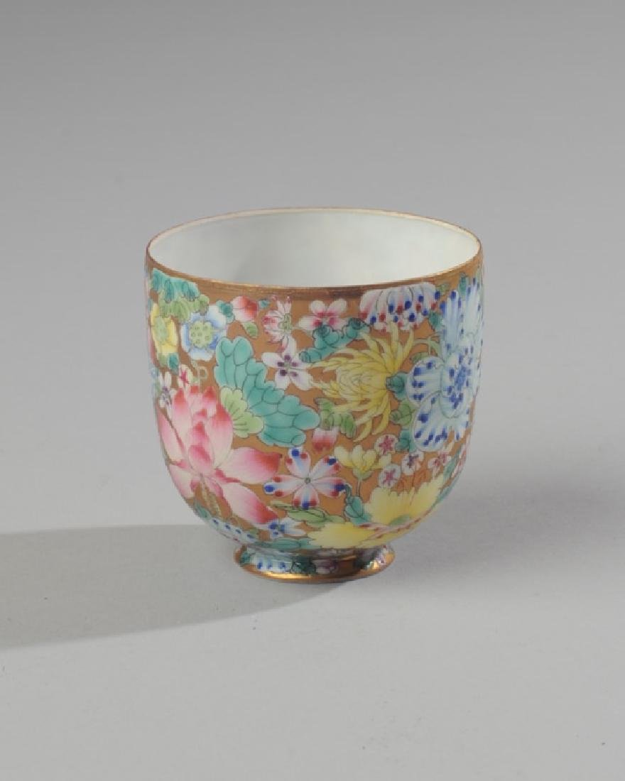 Chinese Famille Rose Millefleur Cup Eggshell