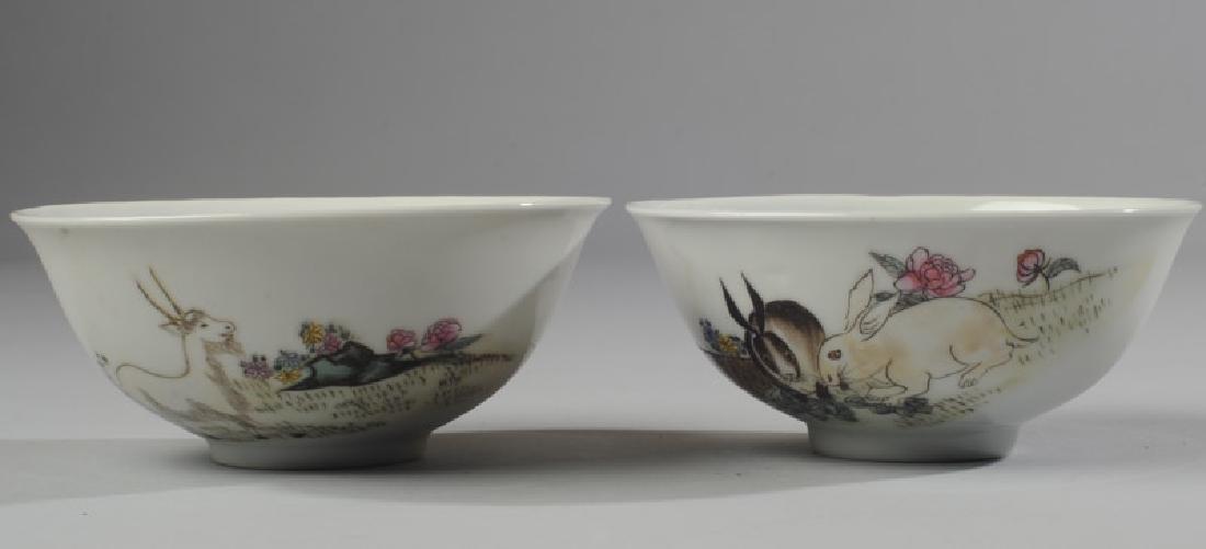 2 Chinese Republic Nanchang Zodiac Bowls